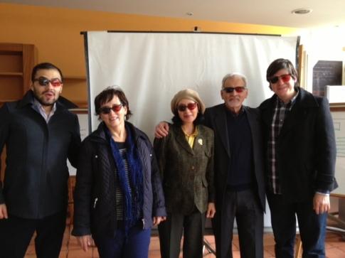 (De izq. a der.). Carlos O. Fino. Beatriz García. Luz Teresa Gómez. Aurelio Horta. Luis F. Vélez.
