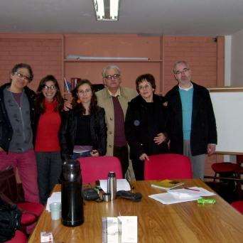 1era cohorte. (Izq. a Der.) Francisco Montaña, Tania Maya, María Clara Salive, Aurelio Horta, Beatriz García y Rafael Francesconi