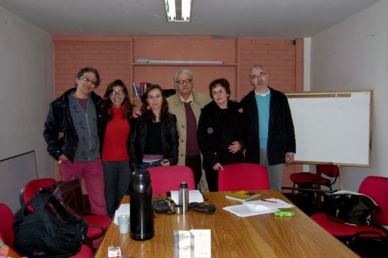 (De izquierda a derecha) Francisco Montaña, Tania Maya, María Clara Salive, Aurelio Horta, Beatríz García y Rafael Francesconi