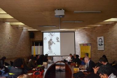 Durante la conferencia de Eduardo Morales Nieves