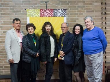 (De izq a der) César González Ochoa, Beatriz Garcia, Claudia Kozak, Eduardo Morales Nieves, Laura Zambrini, Gabriel Restrepo.
